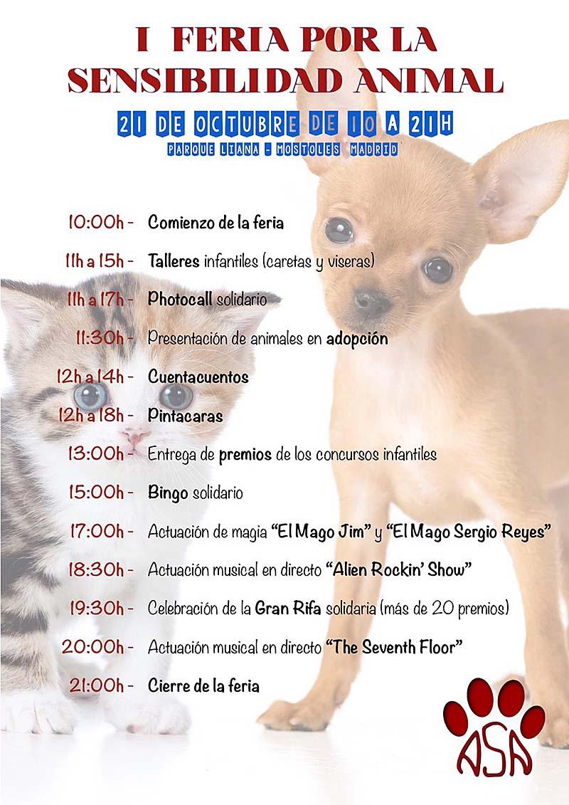 I Feria por la Sensibilidad animal Móstoles